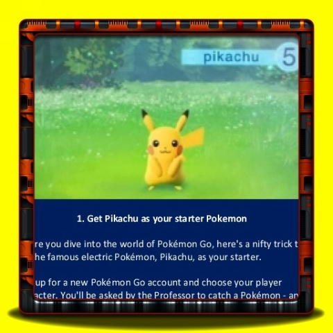 Pokemon Go - Get Pikachu as your starter Pokemon